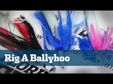 Ballyhoo How To Offshore Dolphin Wahoo Fishing - Florida Sport Fishing TV Rigging Station