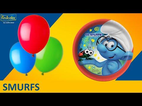 Decoração de festa l Smurfs (antes e depois)