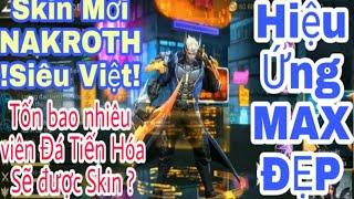 Nạp tiền TRIỆU lấy skin Siêu Việt Nakroth! Tiến hóa như nào và tổng bao nhiêu viên? Bạn đã biết chưa