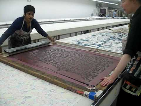 textile printing at the fabric workshop.