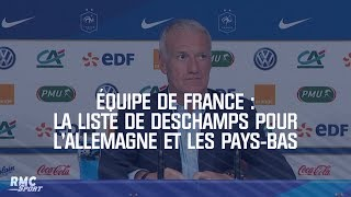 Équipe de France : La liste de Deschamps pour l'Allemagne et les Pays-Bas