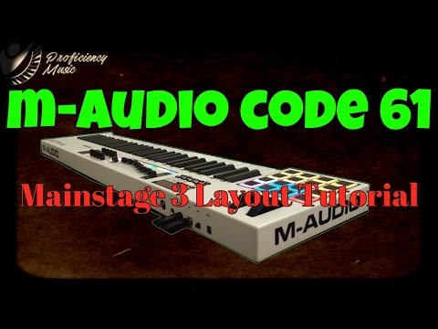 M-Audio Code 61 Layout Tutorial for Mainstage