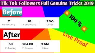 How to gain unlimited followers on tik tok // genuine Tricks 2019 💥100%💥
