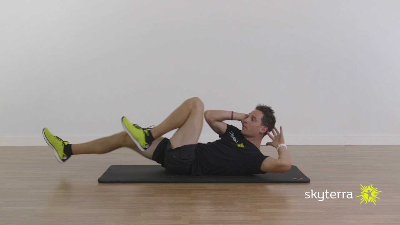 Lean: Step-Up, Dumbbell Push Press & Bicycle Abs