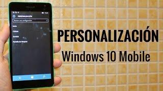 Personalización en Windows 10 Mobile en español