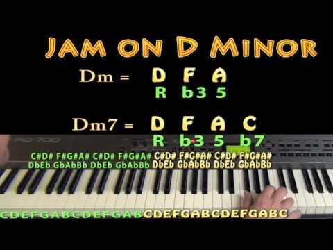 D Minor Chord - Dm - D F A  - M.M.=60 - JAMTRACK - Keyboard Loop
