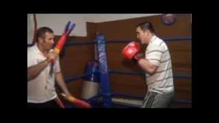 Работа на лапах и на мешке. (Рослов Клуб). Working pads and heavy bag. Boxing. (Roslov Club).
