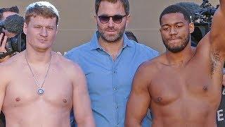 Alexander Povetkin vs. Michael Hunter WEIGH IN & FINAL FACE OFF   Ruiz vs. Joshua 2