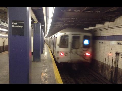 IND 6th Avenue Line: Brooklyn & Uptown R46 & R160 (A) (C) (F) Trains @ East Broadway