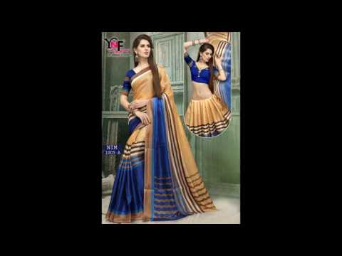 Khadi print sarees shopping online    Low price    Good quality    Surat textile bazaar