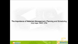 cmms best practices webinar from reliability expert andy gager on materials management
