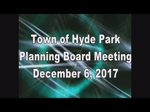 Hyde Park Planning Board 12-6-17