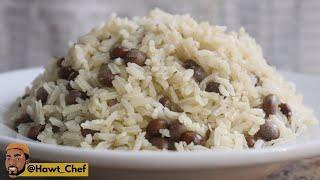 Authentic Jamaican Rice & Gungo IN A PRESSURE COOKER | Pigeon Peas