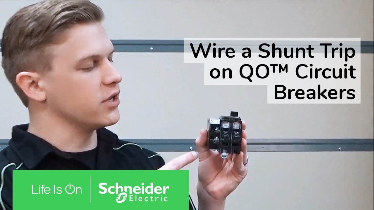 wiring a shunt trip on qo™ circuit breakers  schneider electric support