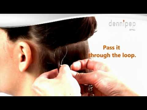 Micro ring loop hair extensions how to apply step-by-step instructions