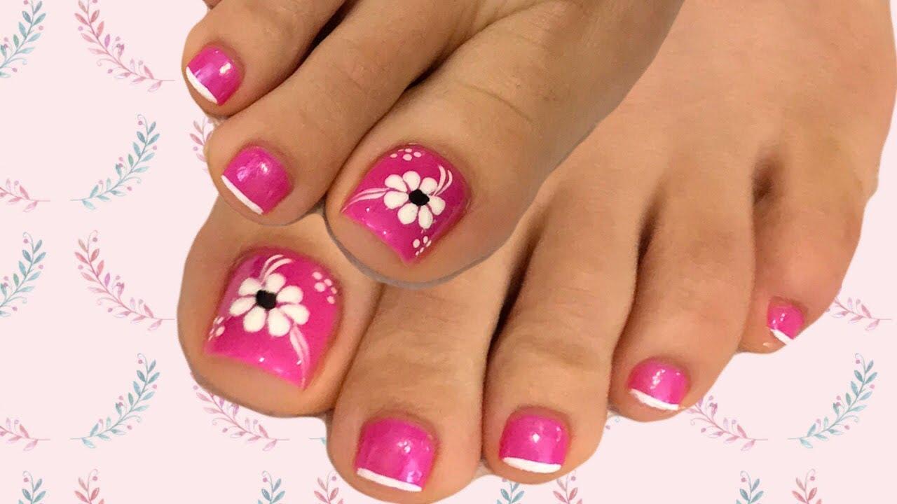 Diseños de uñas fáciles y rapidos flores