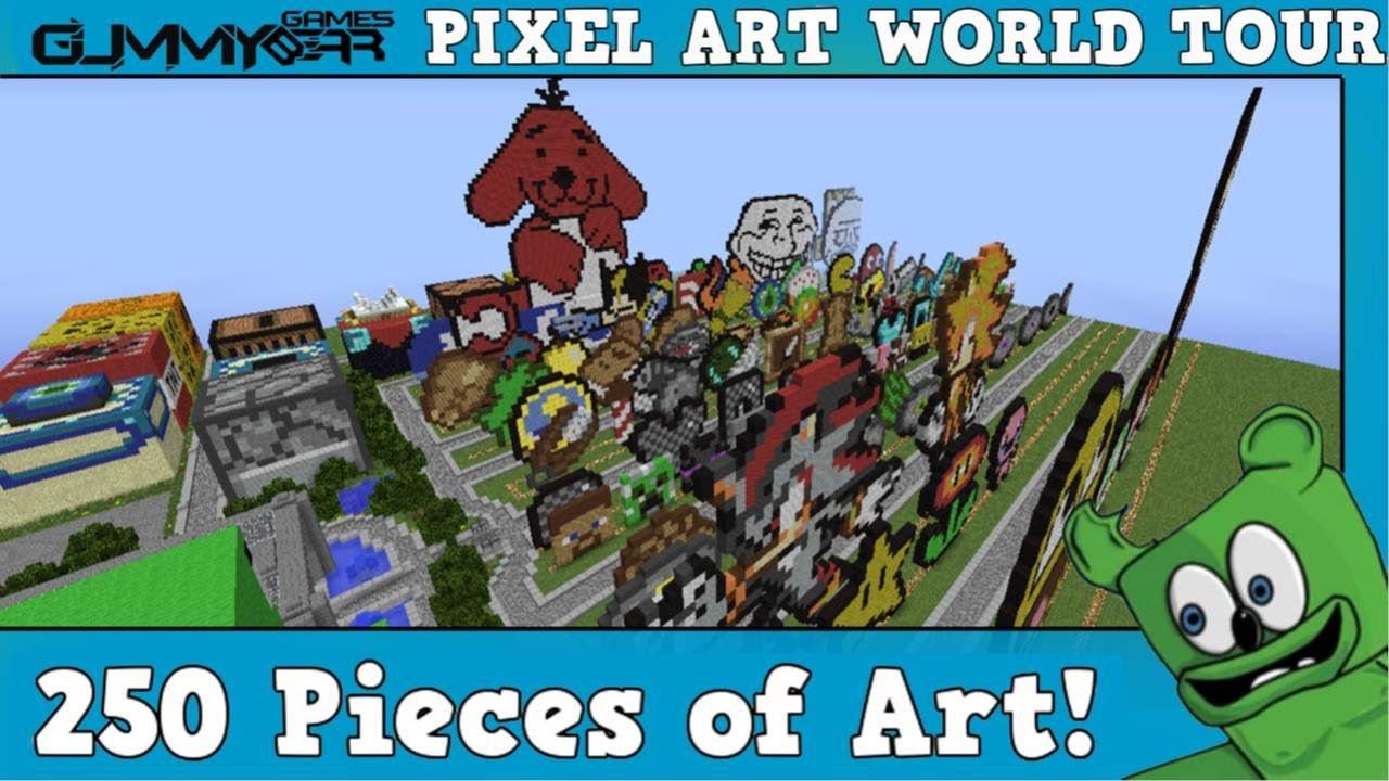 pixel art world