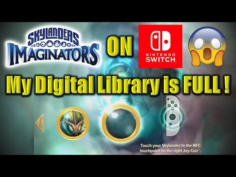 Skylanders Imaginators on Nintendo Switch - Digital Library Does NOT hold enough characters. 😡