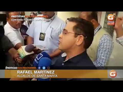 CAPTURA DE RAFAEL MARTÍNEZ ALCALDE DE SANTA MARTA