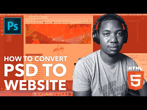 Code Session: Creating A Splash Page! // Convert PSD To HTML