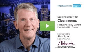Thomas Index Report: Sourcing activity for Cleanrooms.