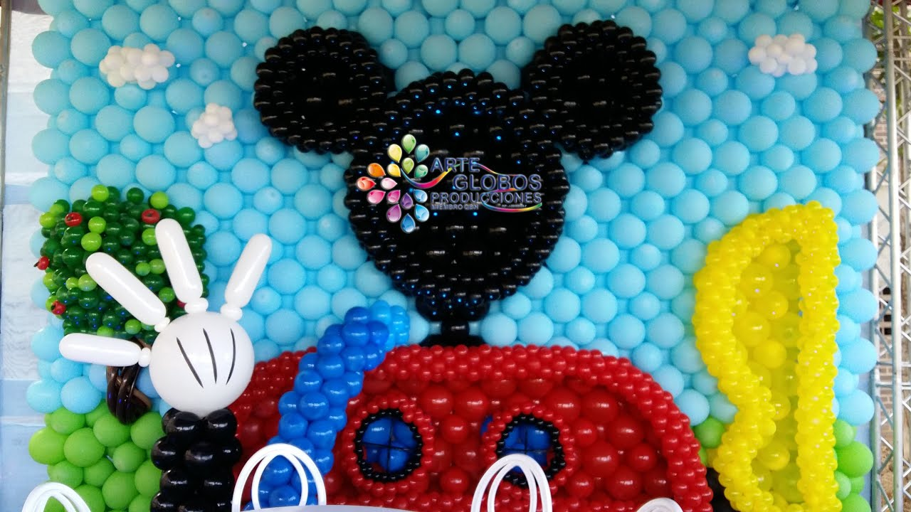 Mickey Mouse Decoraciones Para Fiestas ~ Ideas para Eventos y fiestas de Mickey mouse y Minnie mouse  YouTube