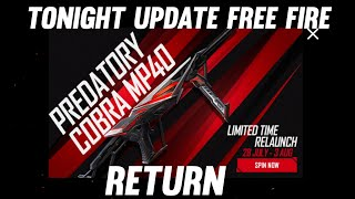 Tonight update    Free fire new event    To night update    free fire     ff new event #Shorts