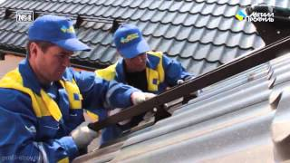 видео Снегозадержатели и лестницы для кровли