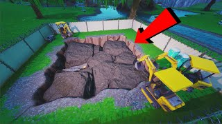 *NEW* FORTNITE Dig Site is now at LOOT LAKE! (FORTNITE BATTLE ROYALE)