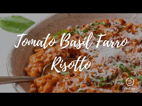 Tomato Basil Farro Risotto