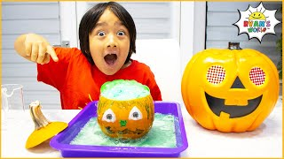 Ryan's Halloween Science Experiment For Kids DIY Elephant Toothpaste!!
