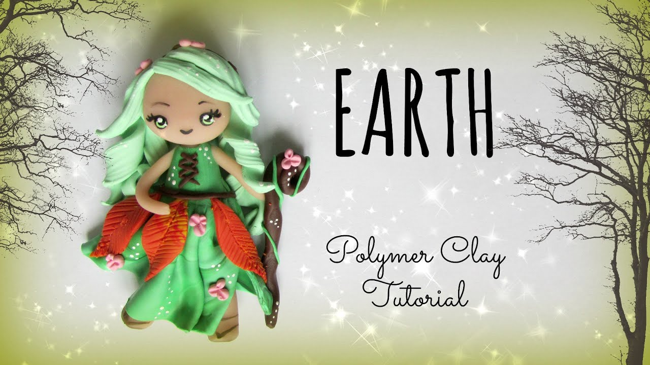 4 elements earth polymer clay tutorial doll chibi youtube baditri Images