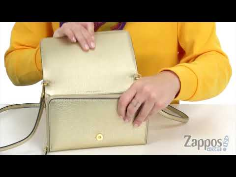 928fd8f03 Tory Burch McGraw Metallic Flat Wallet Crossbody SKU: 9024131 - YouTube