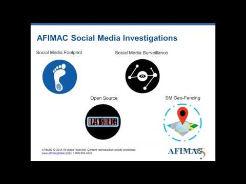 Webinar: Open Source Investigations: Going Beyond a Social Media Search