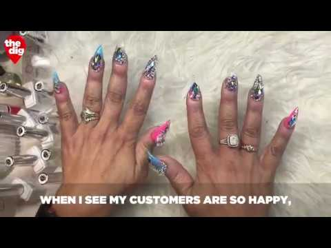 Getting A Manicure From Cardi B's Nail Artist, 'The Queen Of Bling'