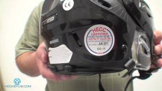 What sticker can you remove from a hockey helmet?