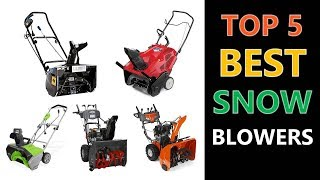 Best Snow Blowers 2018