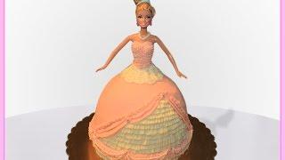 Barbie Doll Cake - No Fondant!