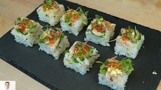 Live Crawfish Osaka Sushi - How To Make Sushi Series