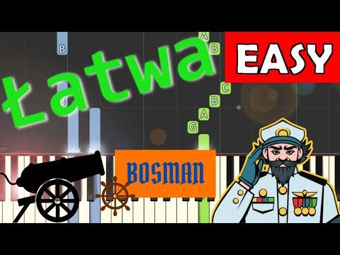 🎹 Bosman - Piano Tutorial (łatwa wersja) 🎹