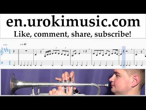 Trumpet lessons Luis Fonsi ft. Daddy Yankee - Despacito Sheet Music Tutorial Part#2 um-i352