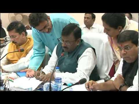 FM Sudhir Mungantiwar in Meeting with Govt Bureaucrats Nagpur Mar 05, 2017