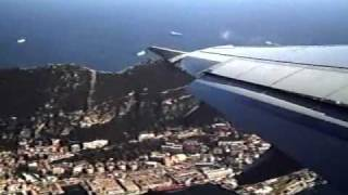 Take off in Gibraltar with Bird Strike and emergency landing