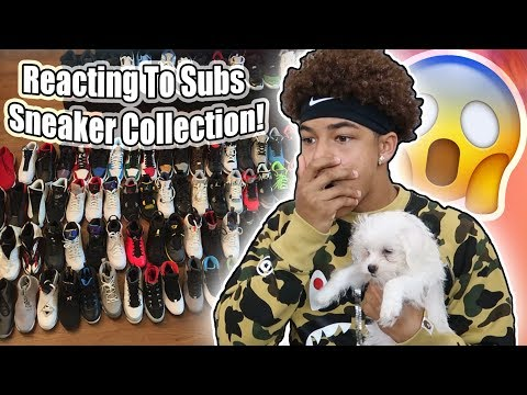 Reacting To My Subscriber's Sneaker Collection