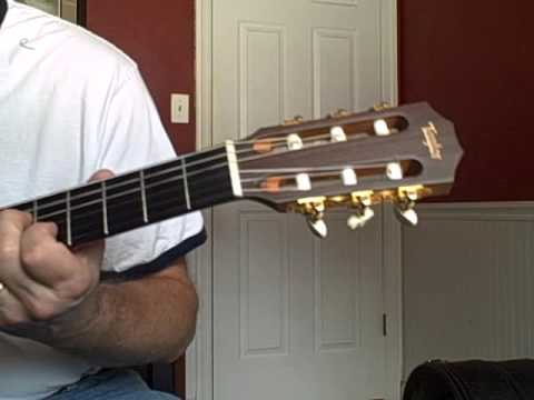 Crystal Blue Persuasion Fingerstyle Guitar Taylor Nylon Youtube