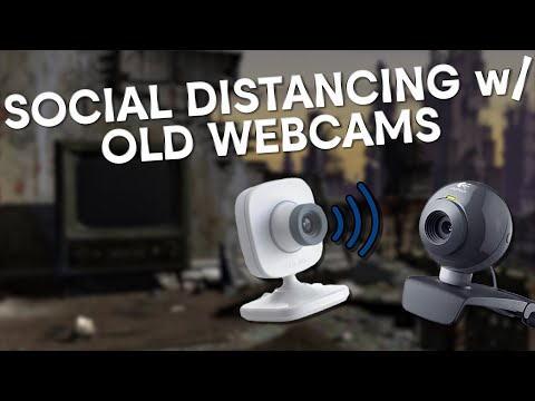 Social Distancing With 2 Old Webcams! (Xbox Live Vision & Logitech C200)