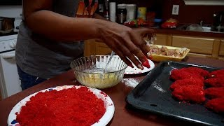 VLOG: HOW TO MAKE FLAMIN HOT CHEETOS FRIED CHICKEN WINGS!