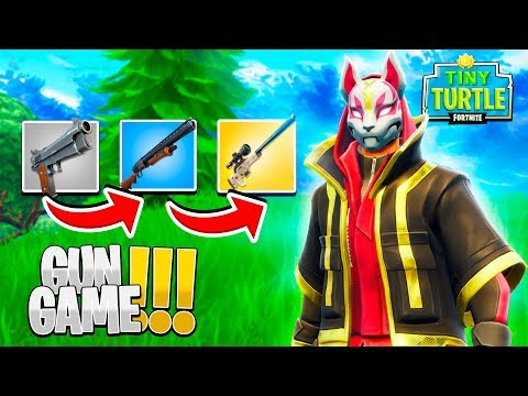 FORTNITE GUN GAME - Custom Fortnite Minigame w/ Little Lizard