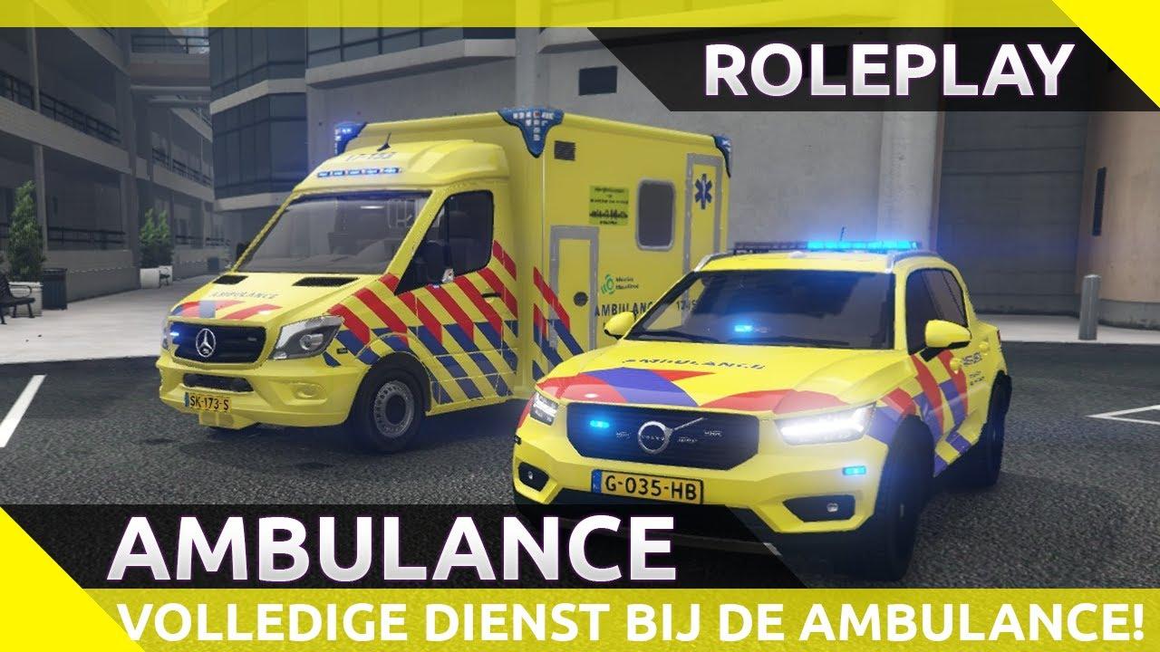 Een volledige dienst bij de ambulance! FiveM [GTA 5 roleplay]
