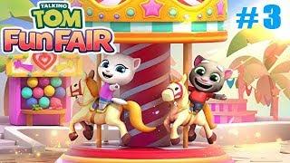 Говорящий Том Fun Fair #3 Первая карусель Построена! Детское игровое видео с Говорящим Томом